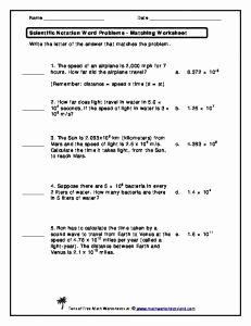 Scientific Notation Word Problems Worksheet New Scientific Notation Word Problems–pdf 8th Grade Math