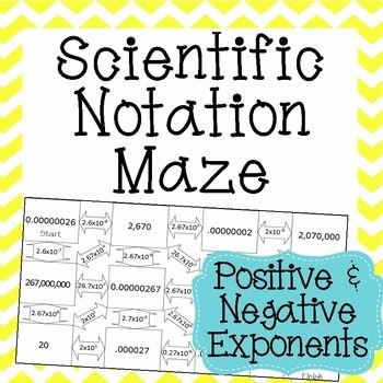 Scientific Notation Worksheet 8th Grade Elegant Scientific Notation Maze