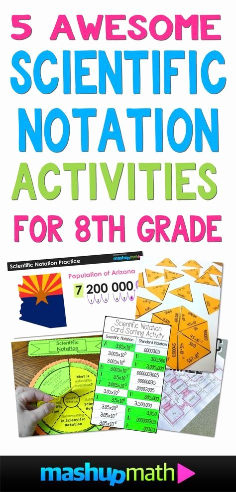Scientific Notation Worksheet 8th Grade Lovely 5 Awesome 8th Grade Scientific Notation Activities