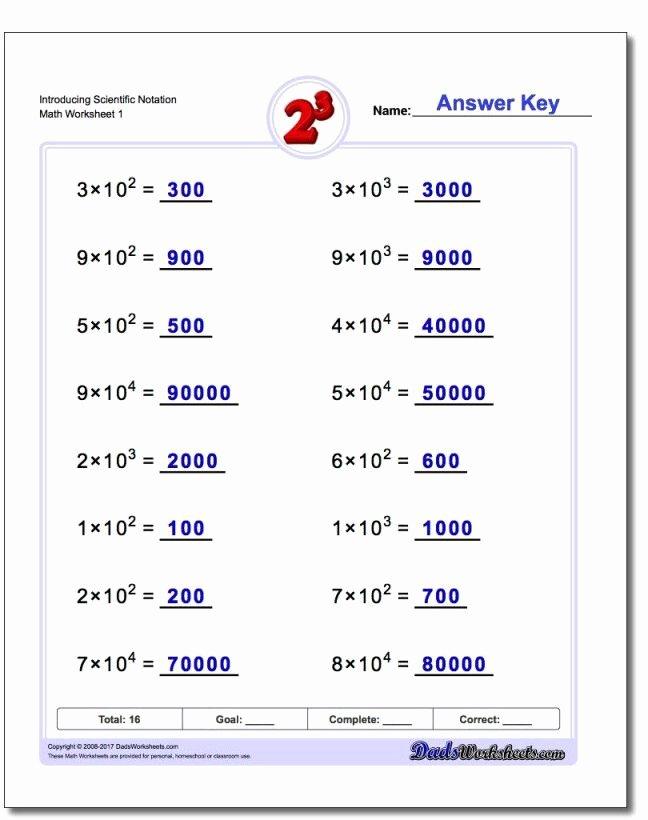 Scientific Notation Worksheet 8th Grade Luxury Scientific Notation Worksheet 8th Grade