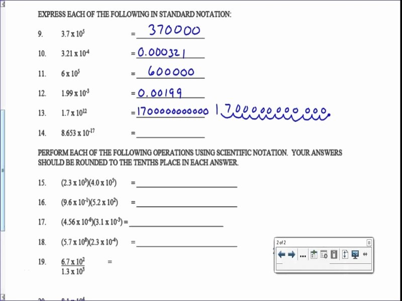 Scientific Notation Worksheet Answer Key Awesome Scientific Notation Worksheet Answer Key Free Printable
