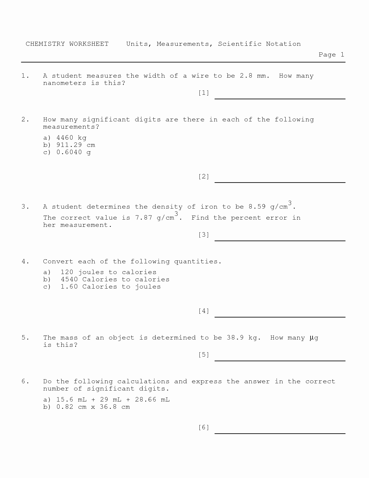 Scientific Notation Worksheet Answer Key Beautiful 9 Best Of Chemistry Worksheet Matter 1 Answer Key