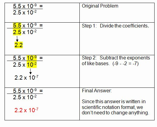 Scientific Notation Worksheet Answer Key Beautiful Multiplying and Dividing Scientific Notation Worksheet