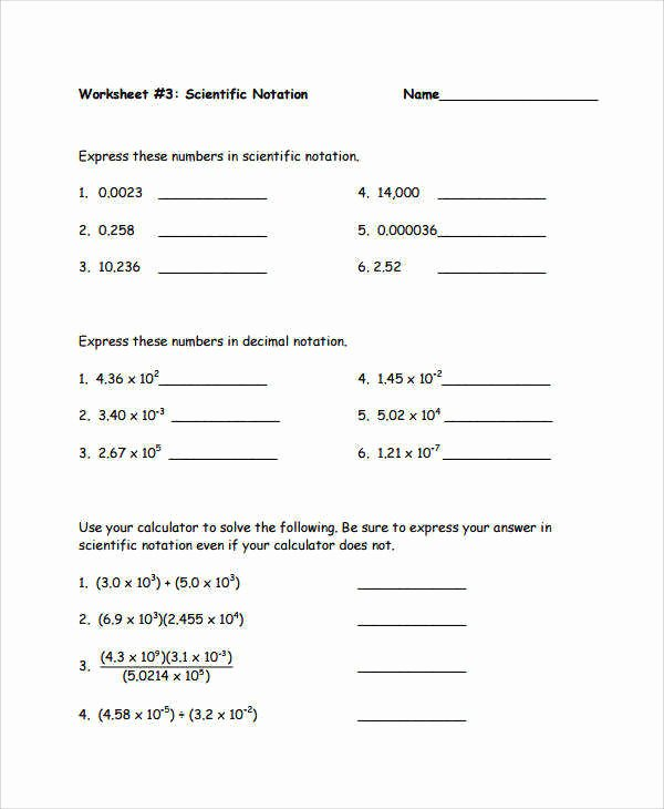 Scientific Notation Worksheet Answer Key Best Of Multiplying and Dividing Scientific Notation Worksheet
