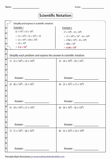 Scientific Notation Worksheet Answer Key Lovely Significant Figures Practice Worksheet Answer Key
