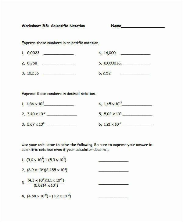 Scientific Notation Worksheet Chemistry Best Of Multiplying and Dividing Scientific Notation Worksheet