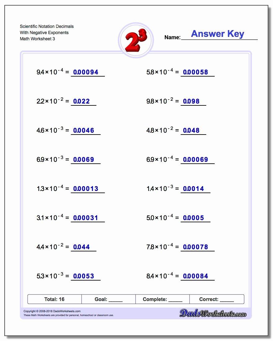 Scientific Notation Worksheet Chemistry New Scientific Notation Worksheet Chemistry Funresearcher