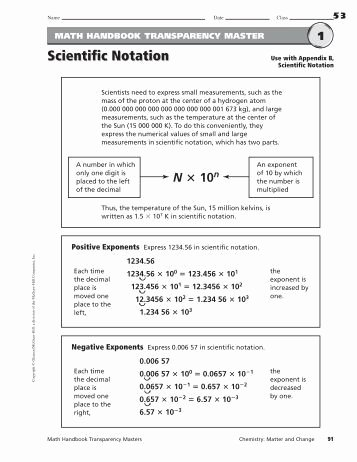 Scientific Notation Worksheet Pdf Unique Scientific Notation and Unit Prefixes