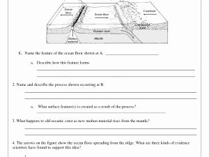 Sea Floor Spreading Worksheet Answer Awesome Sea Floor Spreading Worksheet Answer Key Pearson Education