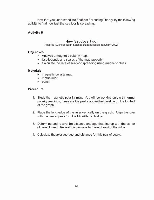 Sea Floor Spreading Worksheet Answer Best Of Sea Floor Spreading Worksheet Answer Key Pearson Education