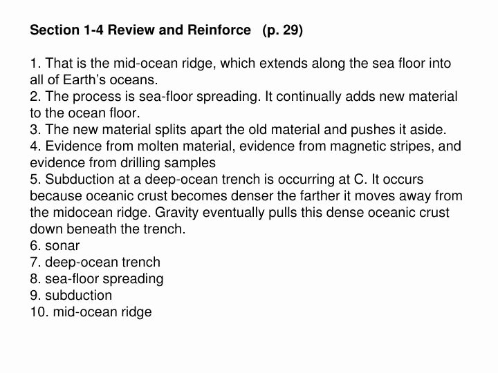 Sea Floor Spreading Worksheet Answer Fresh Ppt Inside Earth Chapter 1 Plate Tectonics Review and