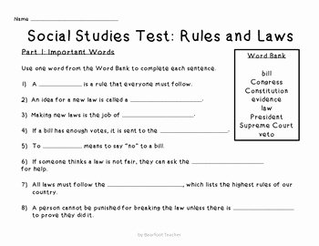 Second Grade social Studies Worksheet Fresh It S the Law 2nd Grade social Stu S Government Unit by