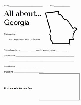 Second Grade social Studies Worksheet Inspirational Georgia State Facts Worksheet Elementary Version