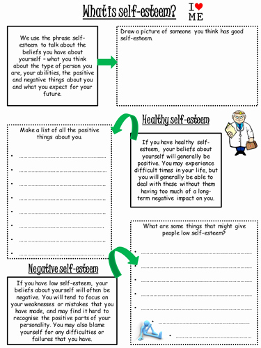 Self Esteem Worksheet for Adults Awesome Self Esteem Worksheet by Lharris24 Teaching Resources Tes