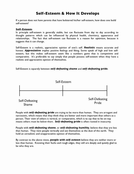 Self Esteem Worksheet for Adults Awesome Self Esteem Worksheet Google Search