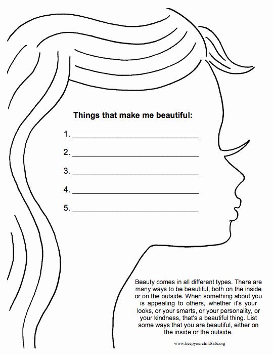 Self Esteem Worksheet for Adults Fresh 30 Self Esteem Worksheets to Print