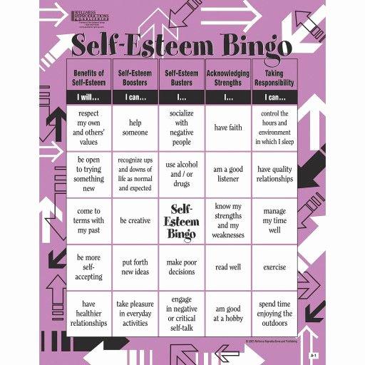 Self Esteem Worksheet for Adults Inspirational Buy Adult Bingo Game Self Esteem at S&s Worldwide