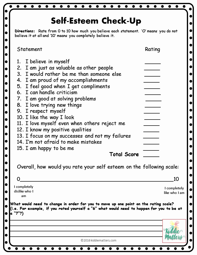 Self Esteem Worksheet for Adults New Self Esteem Building Small Group Counseling Lesson Plans