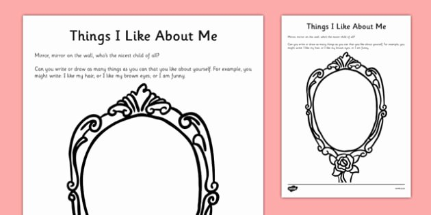 Self Esteem Worksheet for Adults New Things I Like About Me Self Esteem Worksheet Cfe Early