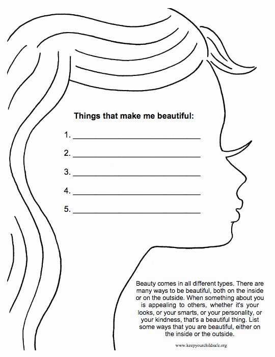 Self Esteem Worksheet for Teens Awesome 18 Self Esteem Worksheets and Activities for Teens and
