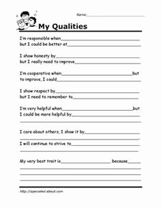 Self Esteem Worksheet for Teens Awesome Best 25 Self Esteem Worksheets Ideas On Pinterest