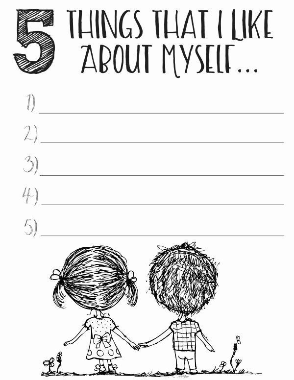 Self Esteem Worksheet for Teens Awesome Free Printable Self Esteem Worksheets