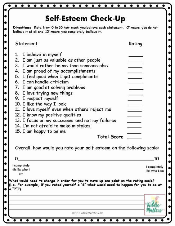 Self Esteem Worksheet for Teens Inspirational Self Esteem Building Small Group Counseling Lesson Plans