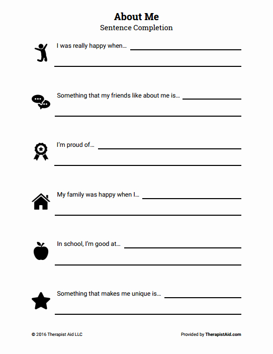 Self Esteem Worksheet for Teens Inspirational Self Esteem for Teens Worksheets
