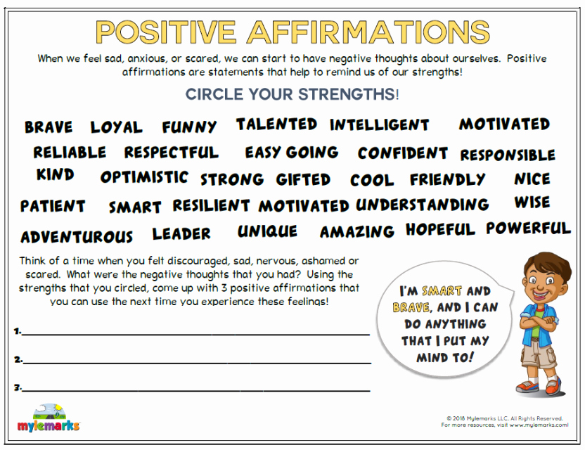 Self Esteem Worksheet for Teens Lovely Self Esteem and Confidence Building Worksheets for Kids