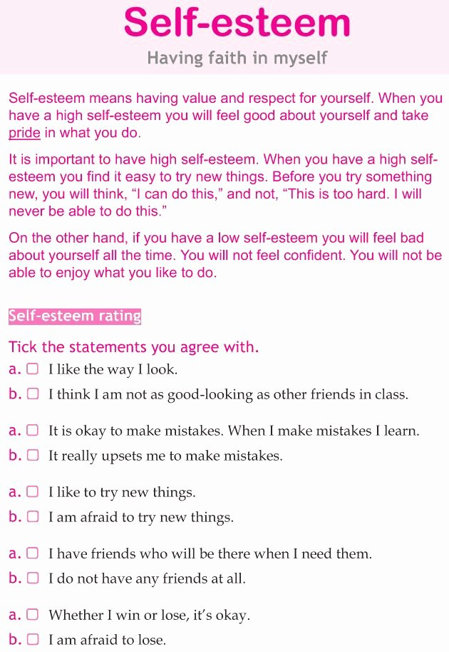 Self Esteem Worksheet for Teens Luxury Best 25 Self Esteem Worksheets Ideas On Pinterest