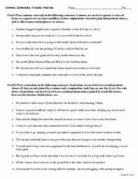 Semicolon and Colon Worksheet Inspirational Mas Semicolons and Colons Freebie Practice Worksheet