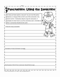 Semicolon and Colon Worksheet Inspirational Semicolon Worksheets