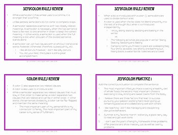 Semicolon and Colon Worksheet Luxury Semicolon Colon Usage Activities Worksheets Powerpoint