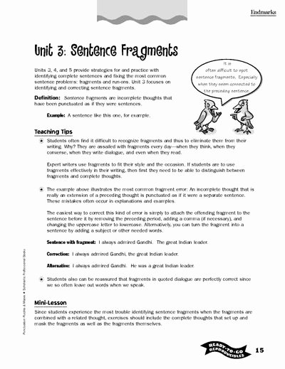 Sentence or Fragment Worksheet Awesome Writing Printables for All Ages