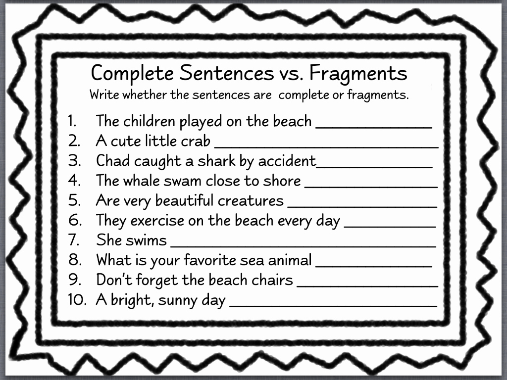 Sentence or Fragment Worksheet New Let S Talk with Whitneyslp May 2013