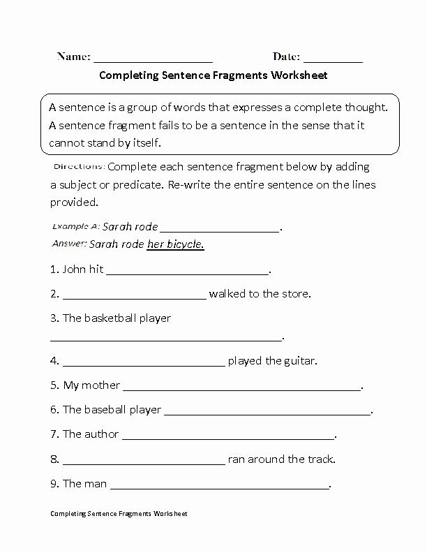 Sentence or Fragment Worksheet Unique Best 20 Sentence Fragments Ideas On Pinterest