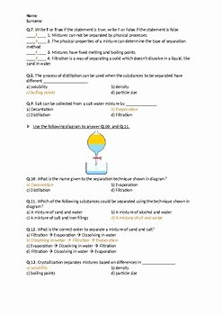 Separation Of Mixtures Worksheet Awesome Separation Of Mixtures Worksheet by Science Worksheets