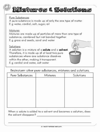 Separation Of Mixtures Worksheet Awesome Teach This Worksheets Create and Customise Your Own