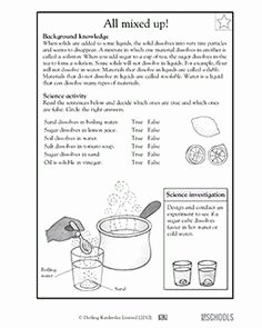 Separation Of Mixtures Worksheet Luxury 5th Grade Science Worksheets Separating Mixtures 2