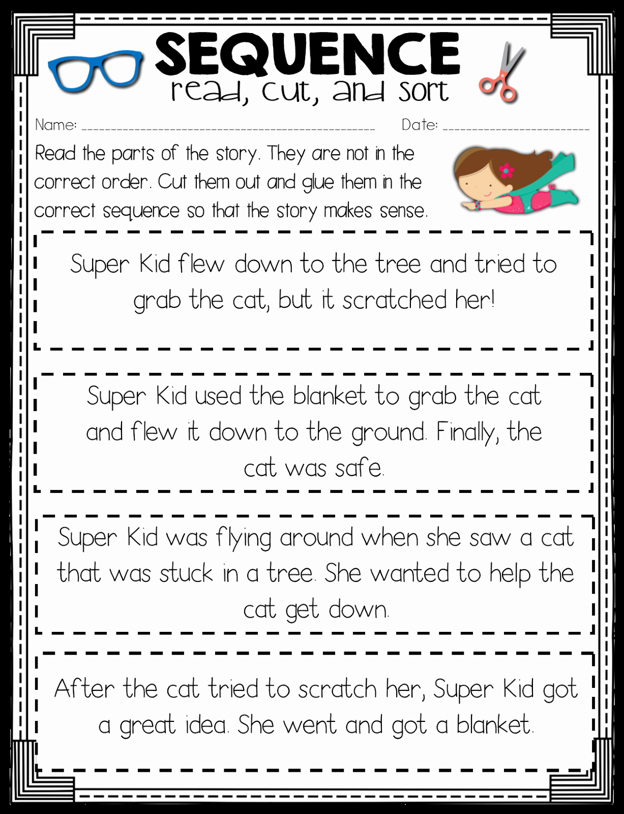 Sequence Of events Worksheet Beautiful Read Like A Rock Star Sequence Of events Activity