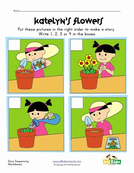 Sequence Of events Worksheet Elegant Sequencing Worksheet Planting Flowers