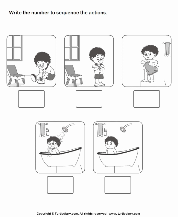 Sequence Of events Worksheet Fresh Picture Sequencing Boy Dressing Up Worksheet Turtle Diary