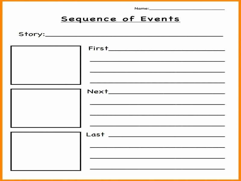 Sequence Of events Worksheet Fresh Sequence events Worksheets