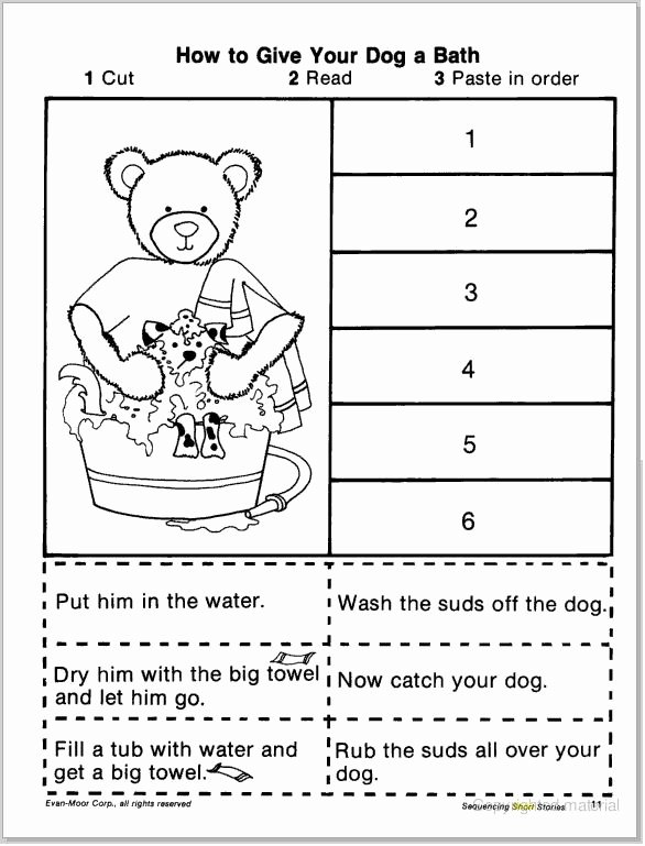 Sequence Of events Worksheet Fresh Short Story Sequencing Cut & Paste