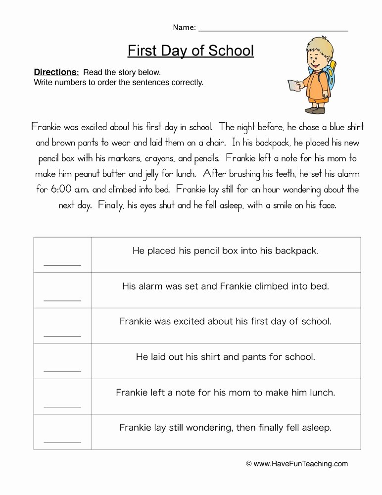 Sequence Of events Worksheet Inspirational Sequencing Worksheets