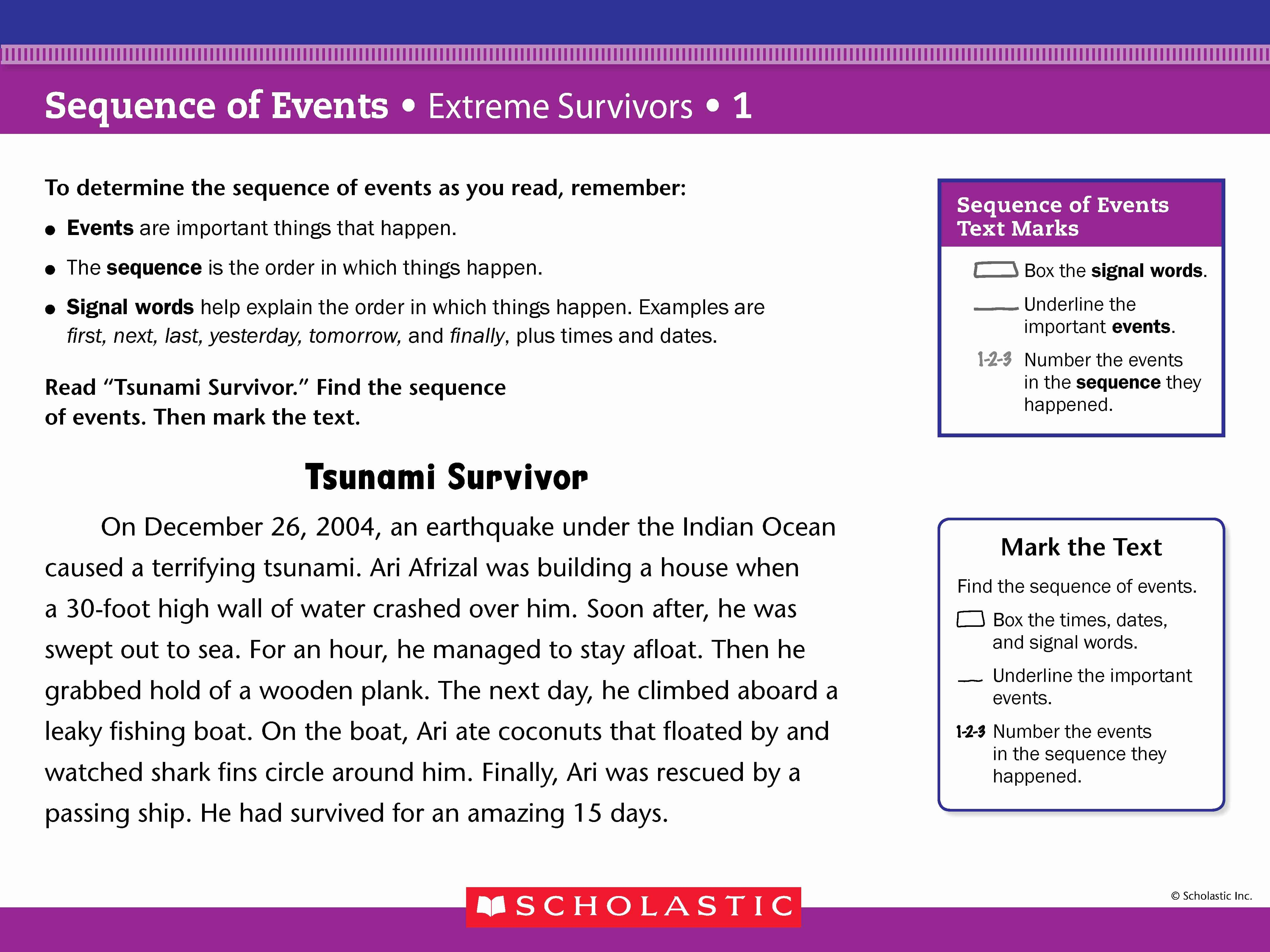 Sequence Of events Worksheet Luxury Investigating Nonfiction Part 2 Digging Deeper with Close