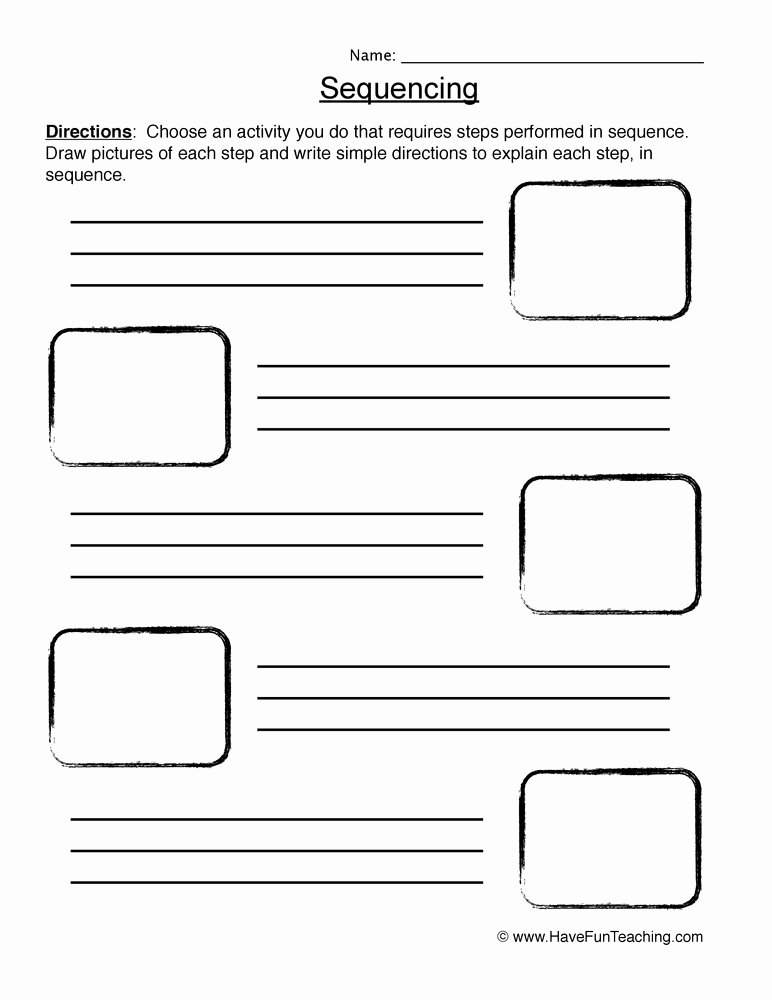 Sequence Of events Worksheet Luxury Sequencing Worksheet Planting A Seed