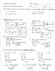 Sequences and Series Worksheet Answers Unique Dentrodabiblia Arithmetic Sequences Worksheet Answers