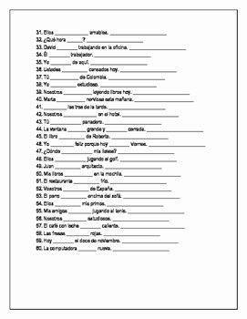 Ser and Estar Worksheet New Ser or Estar Doctor and Place Worksheet Verb Conjugation