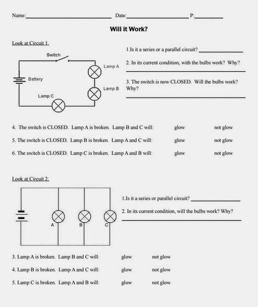 Series and Parallel Circuits Worksheet Best Of Teaching the Kid Series or Parallel Circuits